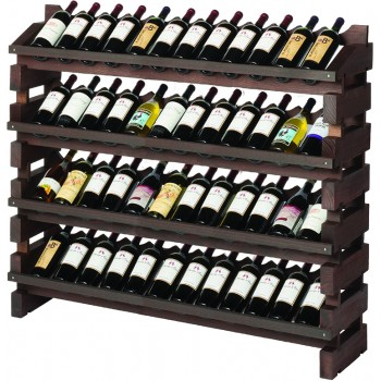 Modularack® Full Display Rack 48 Bottles - Stained