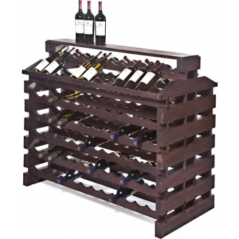Modularack® Island Fixture Deluxe 144 Bottles – Stained