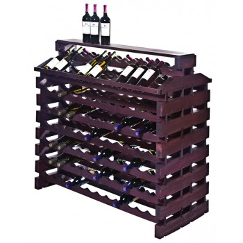Modularack® Island Fixture Deluxe 168 Bottles – Stained