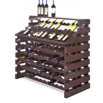 Modularack® Waterfall Fixture Deluxe 156 Bottles - Stained