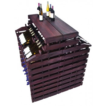 Modularack® Gondola Fixture Deluxe 408 BOTTLES - Stained