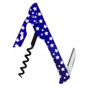 2026 Hugger™ Waiter's Corkscrew Designer Collection Blue w/White Stars