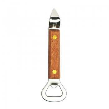 Deluxe Bottle/Can Opener, Wood Handle