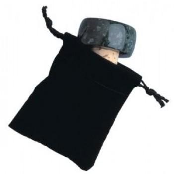 Velveteen Pull-string Sack for Stopper, Black