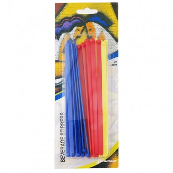 Beverage Stirrers, Solid Colors (20 Count)