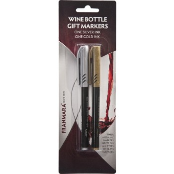 Bottle Metallic Markers, Set of 2 Gold and Silver