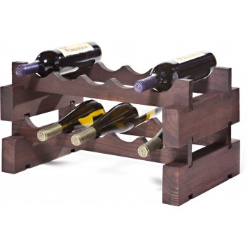 Modularack® 10 Bottle Rack 2 x 5, Stained