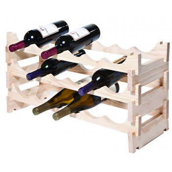 VinRack™  3 x 6=18 Bottle Rack, Natural