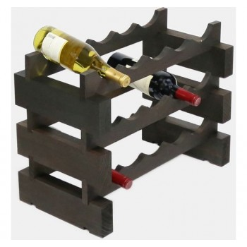Modularack 15 Bottle Rack 3H x 5W, Stained