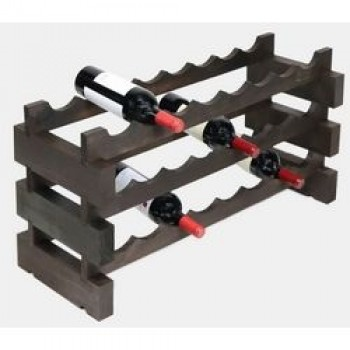 Modularack 24 Bottle Rack 3H x 8W, Stained