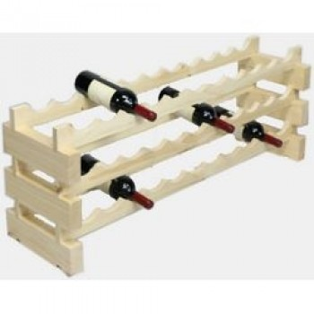 Modularack 33 Bottle Rack 3H x 11W, Natural