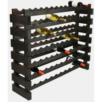 MODULARACK 84 BOTTLE 7H x 12W STAINED