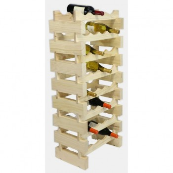 MODULARACK 32 BOTTLE 8H x 4W NATURAL