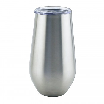 Apollo™ Stemless Glass Triple-Wall, Stainless Steel 16 oz. with Tritan® Lid