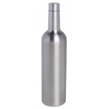 Wine Bottle Triple-Wall Flask, Stainless Steel
