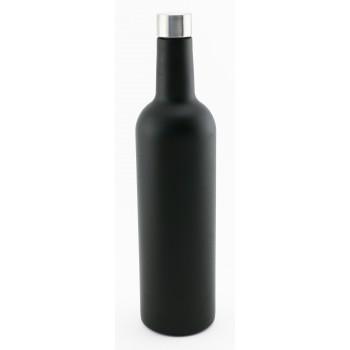750 ml Wine Bottle, Bordeaux shape, Tri-Wall Black Textured S/S