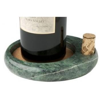 Sommeliers Wine Bottle Coaster, Green Marble