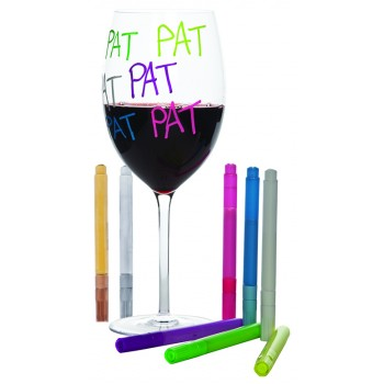 Neon Wine Glass Marker