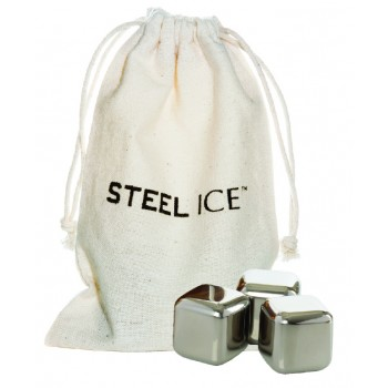 Steel-Ice™ Cubes, Mini Set (3 Cubes with cotton Sack)