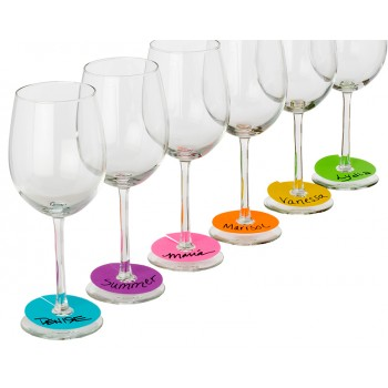 Neon Party Wine Glass Paper Tags Set 240 each
