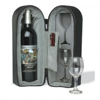 Wine Travel Case with Corkscrew and Foil Cutter
