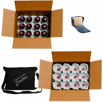 Travel-Case Trolley™ Bottle Shipper Set