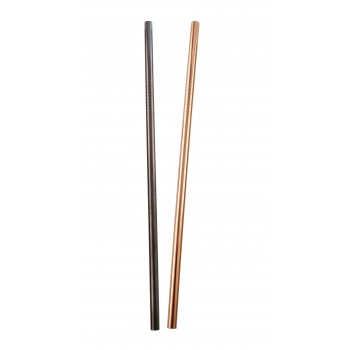 Stainless Steel, Copper Plated Straw