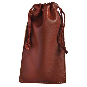 Leatherette Pull-String Pouch