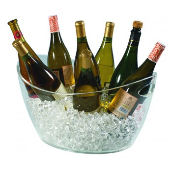 Colossus 8-Bottle Oval Bucket, Clear Acrylic