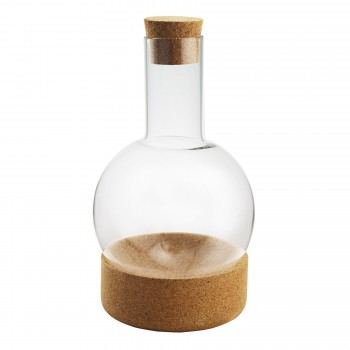 Apollo Decanter with Cork Base and Cork Stopper