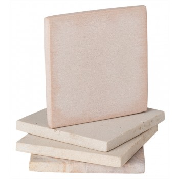 Sandstone Square Coasters, Natural Beige, Set of 4