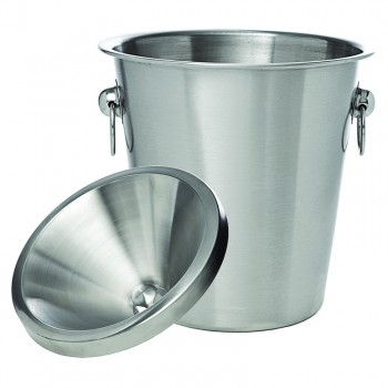 Wine Tasting Receptacle (Spittoon), 2 pcs., Stainless Steel, Brushed Finish