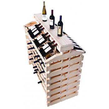 Modularack® Island Fixture Deluxe  168 Bottles – Natural