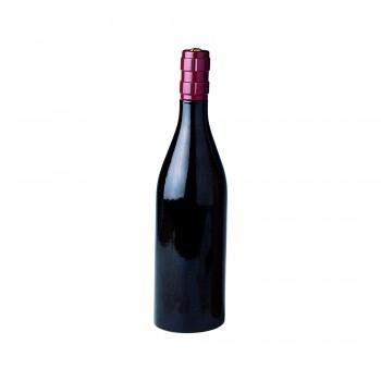 Cellarmaster's™ Wood Bottle Peppermill, Dark, Burgundy Bottle Shape