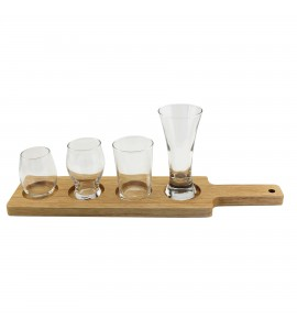 Wood Taster Glass Serving Paddle