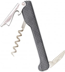 Capitano® Waiter's Corkscrew, Designer Series Handle White Checker design