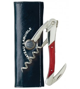 Chateau Laguiole™ Waiter's Corkscrew, Grand Cru, Red Stamina Wood Handle