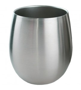 Apollo™ Triple-Wall Stemless Wine Glass, Stainless Steel, 8 oz. Rimfull
