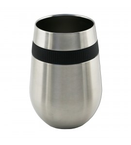 Apollo™ Stemless Glass Triple-Wall Stainless Steel 12 oz.