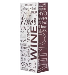 Wine in Many Languages Wine Bag