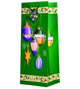 Pop-Up Joyous Christmas Bulbs Wine Gift Bag