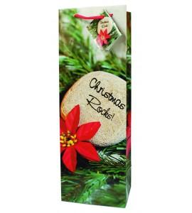 Christmas Rocks!  Paper Holiday Wine Bag