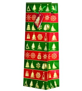 Wrapping Paper Wine Bag