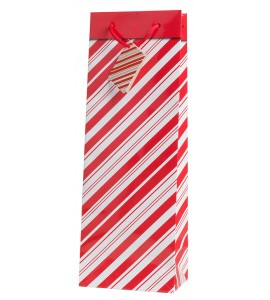 Candy Cane Wine Bag
