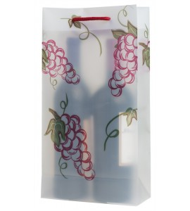 Grapes Double Translucent Plastic Wine Bag