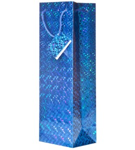 Blue Hologram Wine Bag
