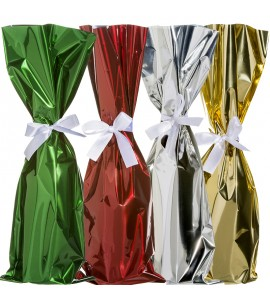 Mylar Wine Bag with Ribbon,