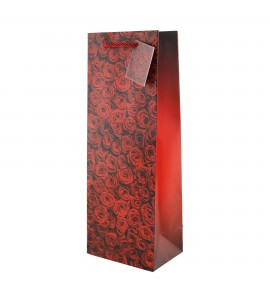 Red Roses Wine Bags
