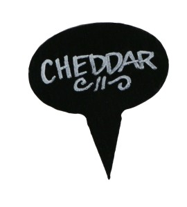 Slate Cheese Marker Set of 4/Coated
