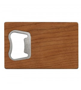 Wood Covered Credit Card Opener,